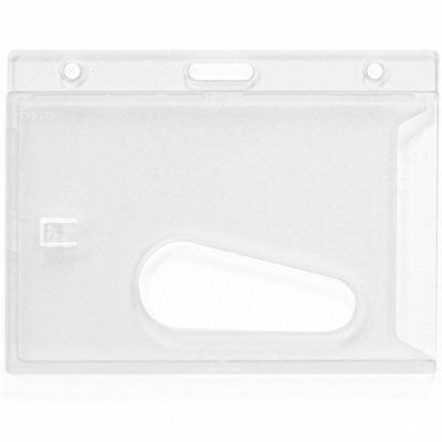 Single Sided Rigid Id Card Clear Pass Badge Identity Protector Holder Enclosed