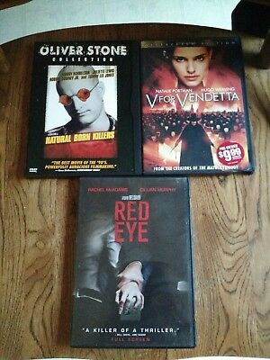 dvd lot...V for Vendetta, Natural Born Killers and Red Eye
