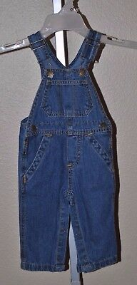 Fisher-Price Denim Blue Jean Overalls Jumpsuit, 0-3 Months, 12 Months, 3T, 4T