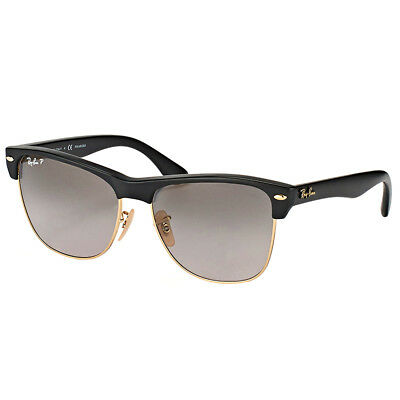 3570bac4f67c6e Ray-Ban Clubmaster Oversized RB 4175 877 M3 Black Sunglasses Green Polarized