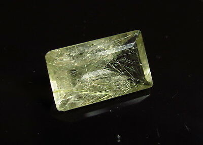 14x9mm GOLD RUTILE INCLUDED QUARTZ faceted OCTAGON CUT LOOSE GEMSTONE