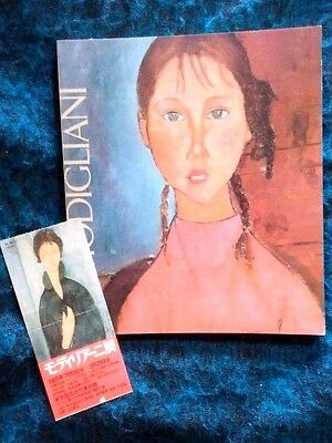 Amedeo Modigliani Japan Exhibition catalog1985 w/ticket stab,(1884-1920) Rare!