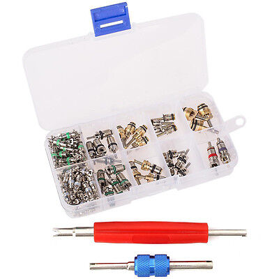 102Pcs Auto R12 /& R134a A//C Air Conditioner Schrader Valve Core Remover Tool Kit
