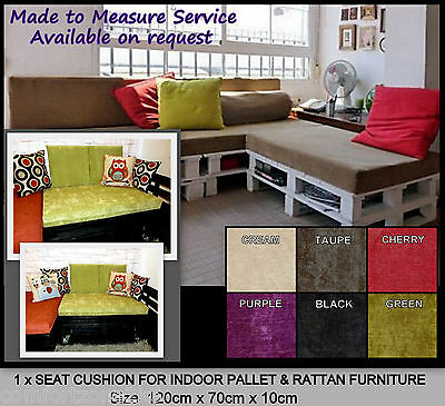 5563eaf511a1 1 x PLUSH CUSHION FOR INDOOR PALLET RATTAN CANE SOFAS & SETTEES GARDEN  FURNITURE