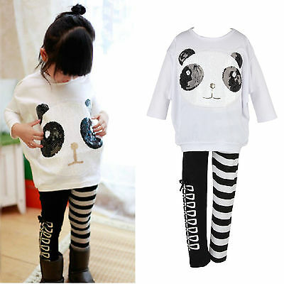 2pcs Toddler Kids Baby Girls Outfit Long Sleeve T-shirt Tops+Pants Clothes Set