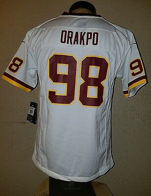 Discount NEW NIKE ON Field NFL Washington Redskins #98 Brain Orakpo Jersey  for sale