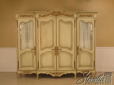 42903E: GIRARD-EMILIA Custom Made Paint Decorated Wardrobe