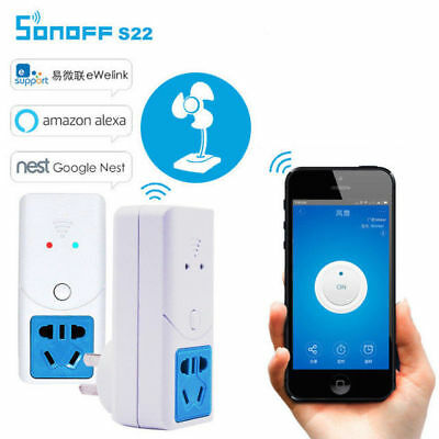 Sonoff S22 Wifi Wireless Socket For Temperature Humidity Sensor Timer Switch