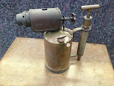 Antique Brass Primus Blow Torch/lamp Sweden