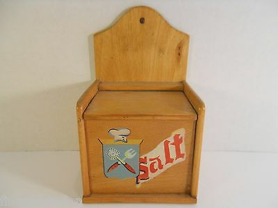 Vintage NEVCO SALT BOX w/ Attached Lid