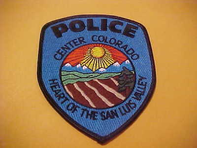 Center Colorado Police Patch  Shoulder Size New Type 2