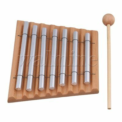 7 Tone Wooden Woodstock Instrument Energy Chime with Mallet and 7 Tube