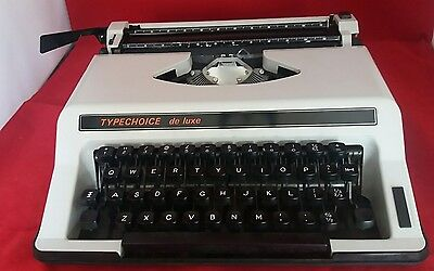 Typechoice De luxe Portable Typewriter. Excellent Condition. With hard case