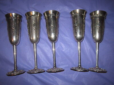 5 Towle Silver Goblets