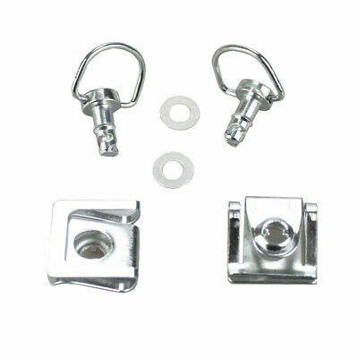 Chrome Motorcycle Quick Release D-ring Turn Race Fairing Fender Clip Fastener