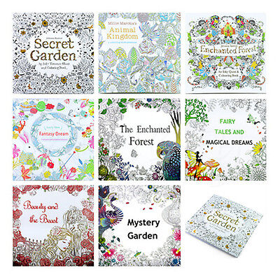 Pop English Version Secret Garden Hand Painted Paper Coloring Book Anti Stress