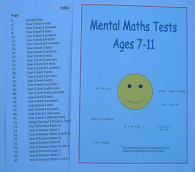 Mental Maths Tests to practice numeracy skills for Ages 7-11 - KS2 Sats on CD