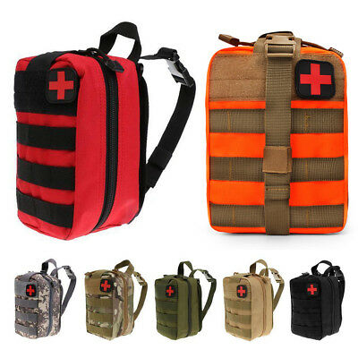 Emergency First Aid Kit Molle Bag Pouch Camp Car Survival Travel Waist Belt Case