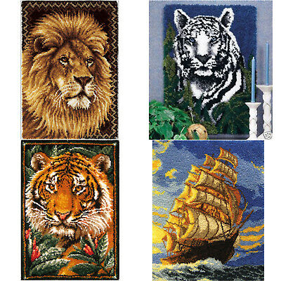 "GEX Latch Hook Kit Rug tapestry33""*24"" Cushion Craft Needle Embroidery Carpet"