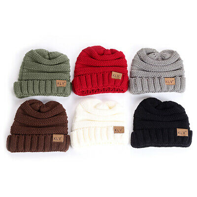 Toddler Kids Girl Boy Baby Winter Warm Crochet Knit Hat Children Ski Beanie Cap