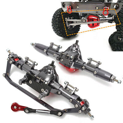 CNC Aluminum Front Axle and Rear Axle Completed Assembly RC Part For AXIAL SCX10
