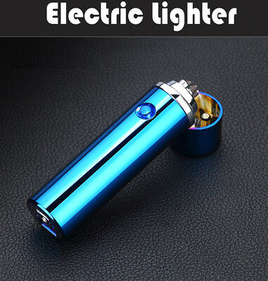 Windproof Flameless Lighter Electric  USB Dual Arc Cigarette Plasma Rechargeable