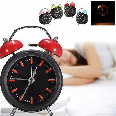 Classic Non Ticking Alarm Clock Silent No Tick Loud Night light Bedside Bedroom