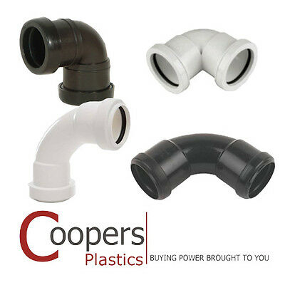 Push Fit Waste Plumbing - 90 degree Knuckle & Swept Bends in 32mm or 40mm