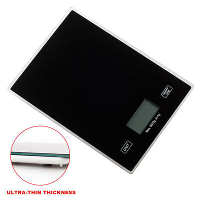 5kg Black Digital LCD Electronic Kitchen Cooking Food Weighing Scales UK NEW