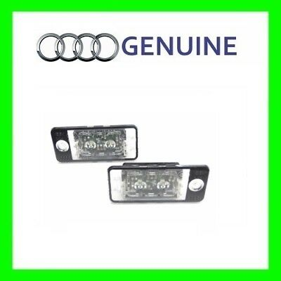 Genuine NEW OEM  LED AUDI A5 Cabrio Q7 A8 A3 RS5 Pair License Plate Lighting