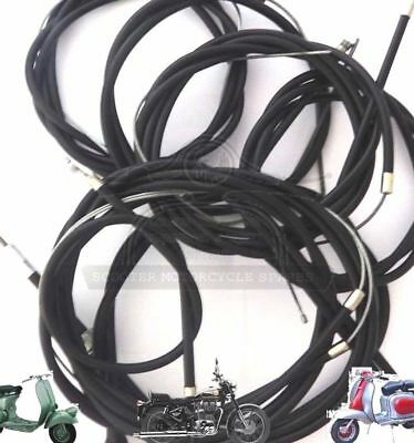 Lambretta Cable Kit Black S3 Li Tv Sx Gp Scooters @aud