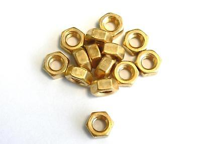 Hexagon nuts m² / 2,3 / 2,5 / 2,6 / 3 , DIN 934 , Brass , Nut