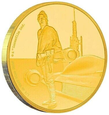 Niue 25 Dollar 2017 - Luke Skywalker - Star Wars Classics (7.) 1/4 Unze Gold PP