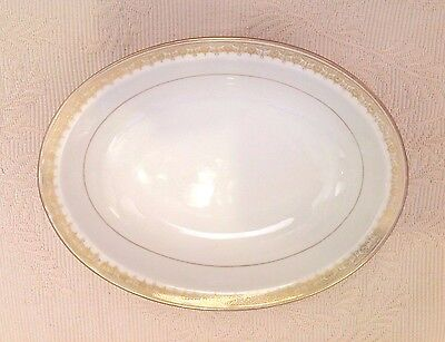 THEODORE HAVILAND Bowl Oval Serving  Limoges France 1903 White / Gold