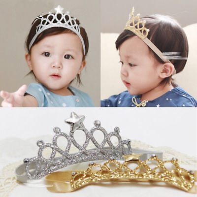 Princess Crown Headwear Headbands Bow Girls Toddler Baby Accessories Hair USA