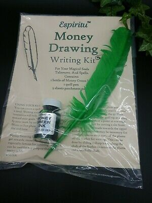 Money drawing Writing Kit spells spell supplies Talismans witch pagan
