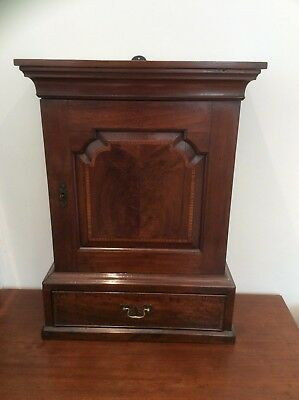 Fabulous Georgian Spice Cupboard - Circa 1800 - Mahogany With Inlaid Fruit Wood