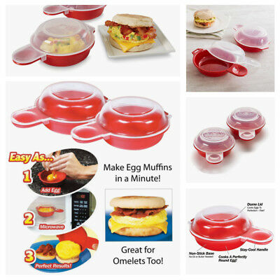 Healthy Easy Eggwich Microwave Egg Cooker - Set of 2 As Seen On TV Fast Shipping