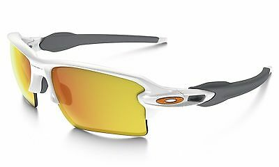 OAKLEY OO9188-19 FLAK 2.0 XL Polished White w/ Fire Iridium Sport Sunglasses