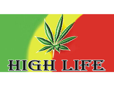 50cm by 25cm High Life Marijuana Hemp Leaf Movie Poster Banner Sign