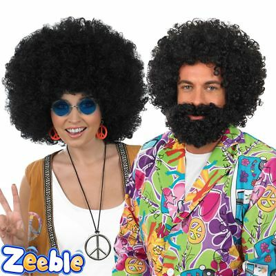 Adult 1970s Afro Wig Disco Fancy Dress Accessory