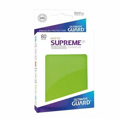 (80) Ultimate Guard SUPREME UX STANDARD Size Card Sleeves - MATTE - LIGHT GREEN