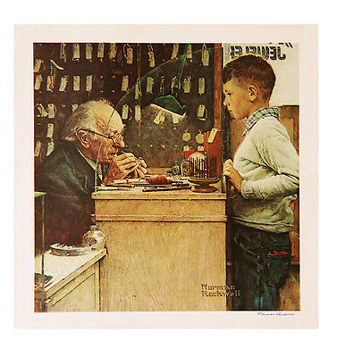 "Norman Rockwell's ""The Watchmaker"" Poster"