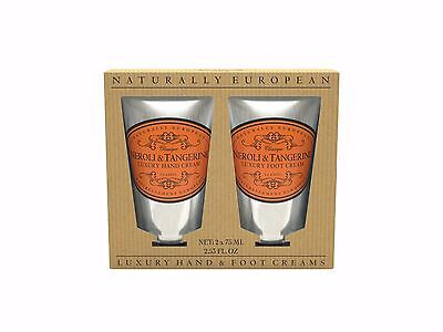 Naturally European Hand and Foot Cream Gift 2 x 75ml - Neroli and Tangerine NIB