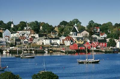 World Hertitage Designated Town On South Shore Lunenburg Nova Scotia Canvas...