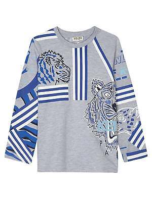 57bfef3c KENZO KIDS GREY Graphic Cole Long Sleeve T-Shirt - $56.00 | PicClick