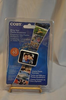 NEW Coby DP151 Keychain Digital Photo Frame 60 Photos TFT LCD White 1.5 Inch