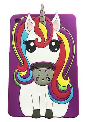 Cartoon Animal Unicorn Cute 3D Silicone Tablet Case Cover Back For iPad 2 3 4