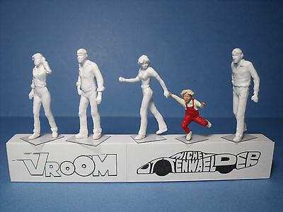 5  Figurines  1/43  Set 250  La  Marche  Vroom  1/43  Unpainted  Figures
