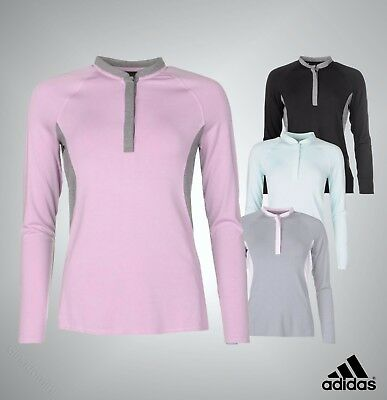 Ladies Genuine Adidas Lightweight Long Sleeves Regular Fit Tour Golfing Top
